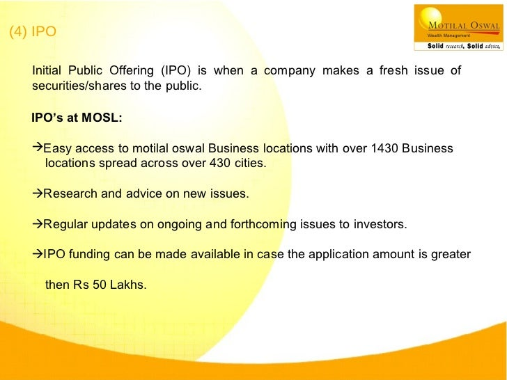 Motilal oswal ipo form