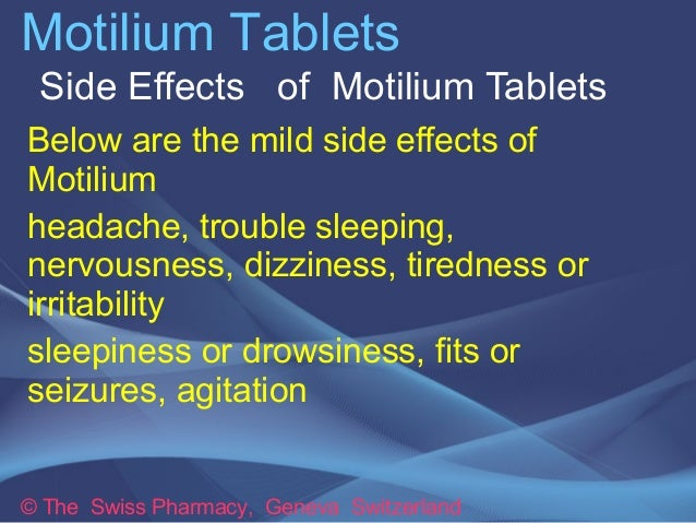 Motilium Side Effects Depression
