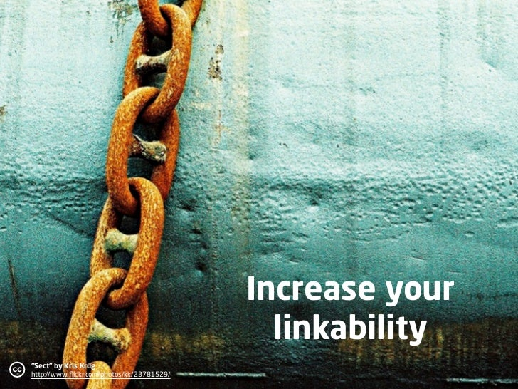"""Increase your                                                  linkability c   """"Sect"""" by Kris Krüg                        ..."""