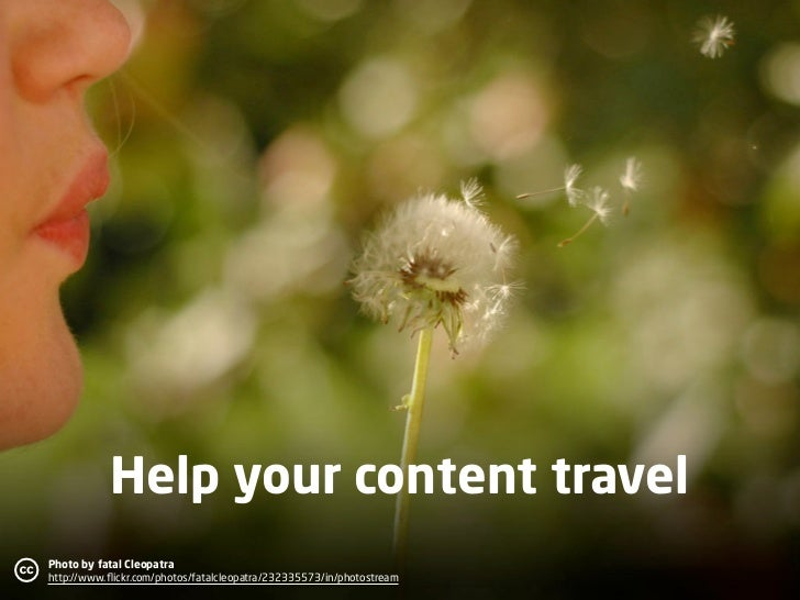 Help your content travel c   Photo by fatal Cleopatra                                                                     ...