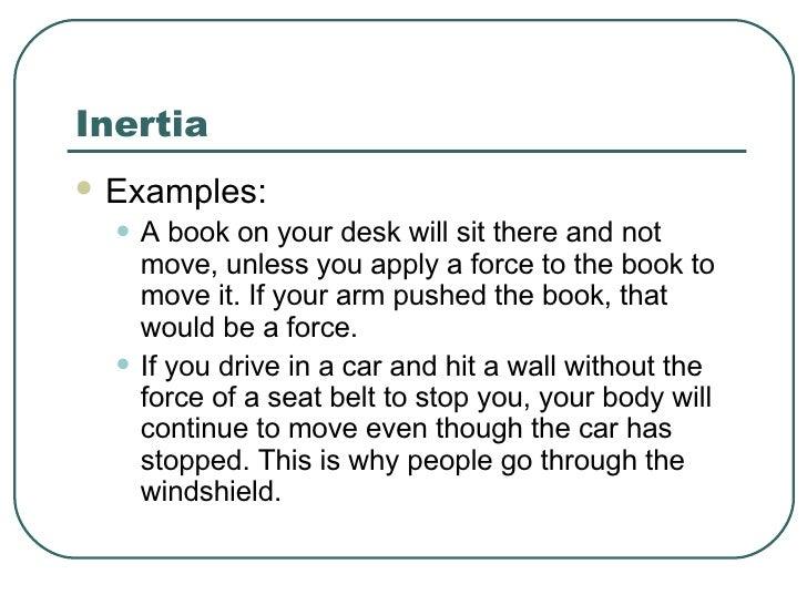 Motion Notes 2005 – Inertia Worksheet