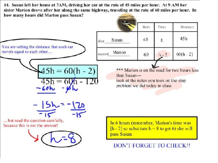 Motion Problems Slide 2