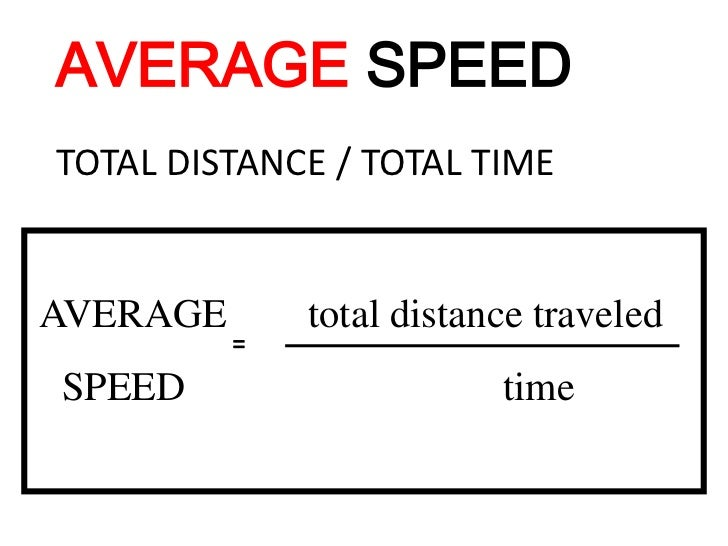 Dividing The Total Distance Traveled By The Time