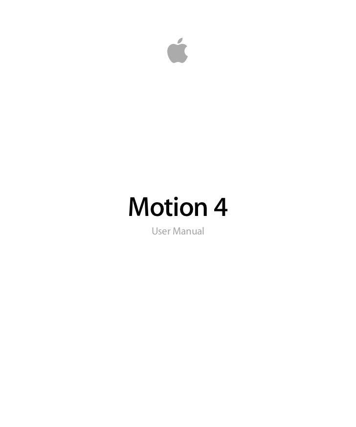 Motion 4 User Manual