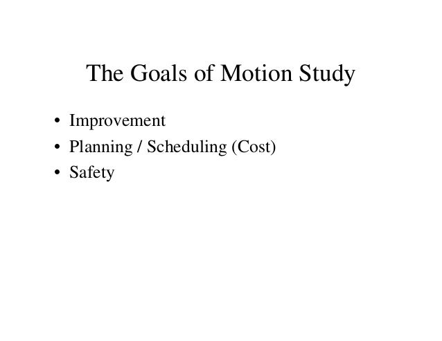 time and motion study in a hotel The time & motion studies for a task calculate how long, it hakes on an average to perform a certain task this help in calculating & staffing level.