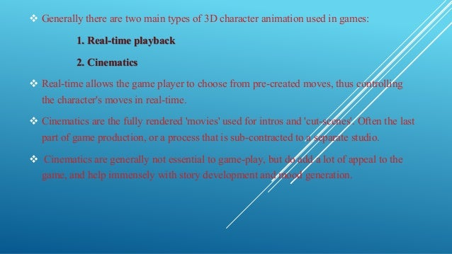 an analysis of the use of motion capture for computers character animation The use of motion capture for computer character animation is  (or other  movement) for immediate or delayed analysis and playback.