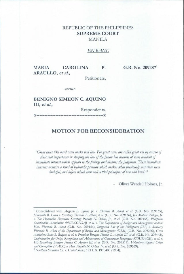 motion for reconsideration - Sample Letter Of Appeal For Reconsideration