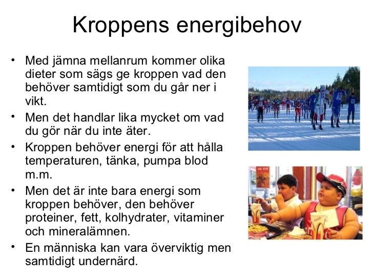 kroppens energibehov