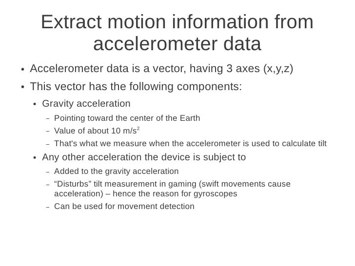 Motion recognition with Android devices