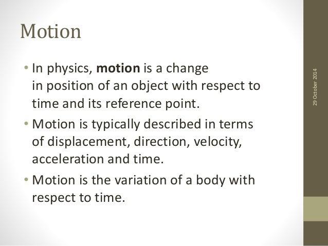 Motion sensing and detection Slide 3