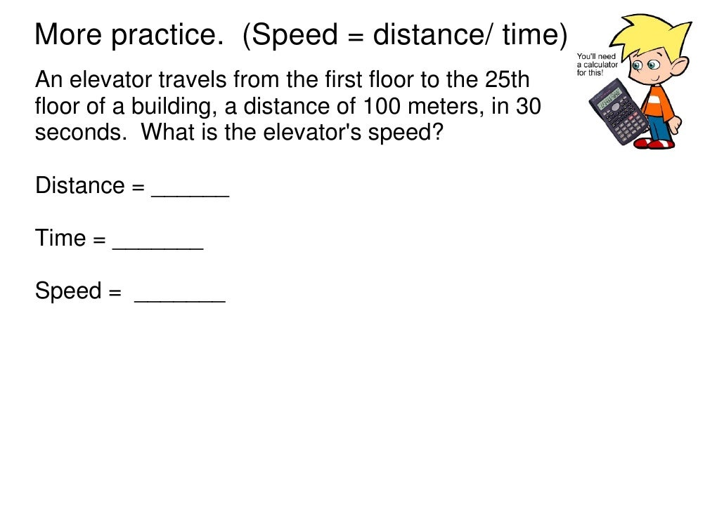 Motion speed velocity ppt – Motion and Speed Worksheet