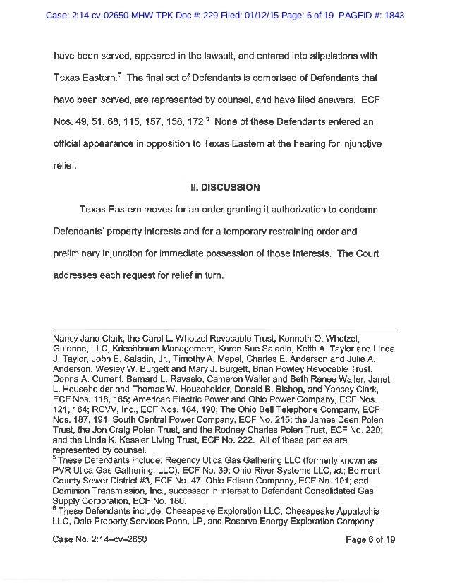 Motion to Intervene in ET Rover Pipeline Application for Eminent Doma…