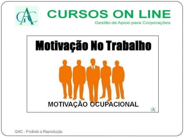 Curso Motivação No Trabalho Curso Online