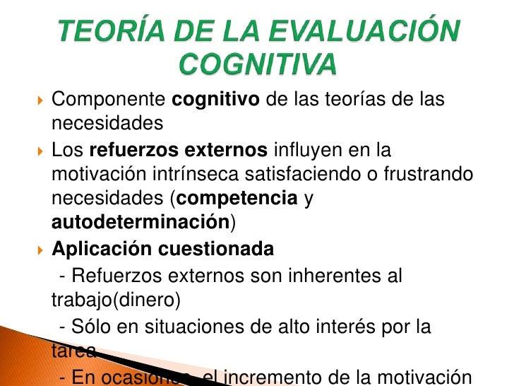 Teoría de las necesidades (clásicas)<br />Teoría de la evaluación cognitiva<br />Teorías del control de la motivación<br /...