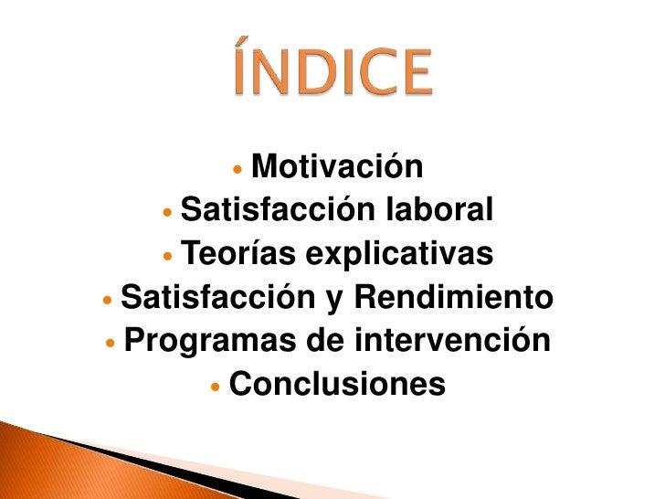 ÍNDICE<br /><ul><li>Motivación