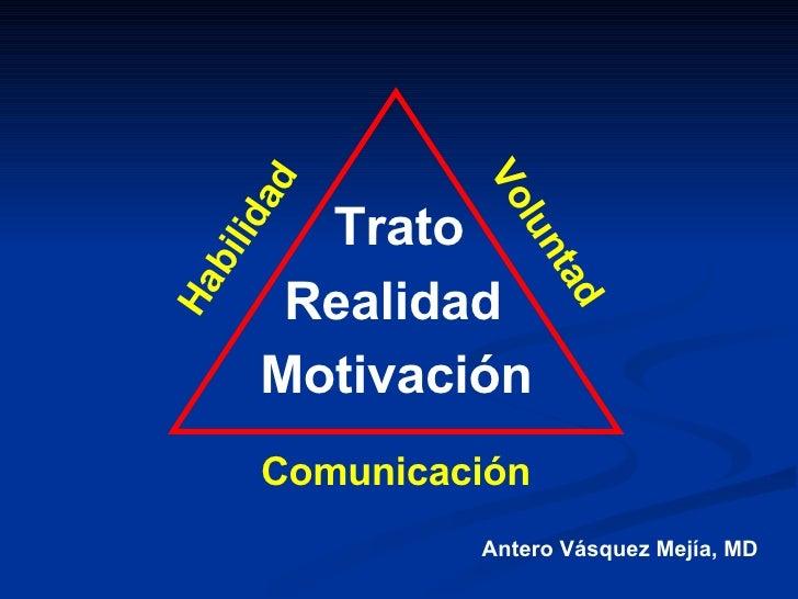 Trato Motivación Realidad Habilidad Voluntad Comunicación Antero Vásquez Mejía, MD