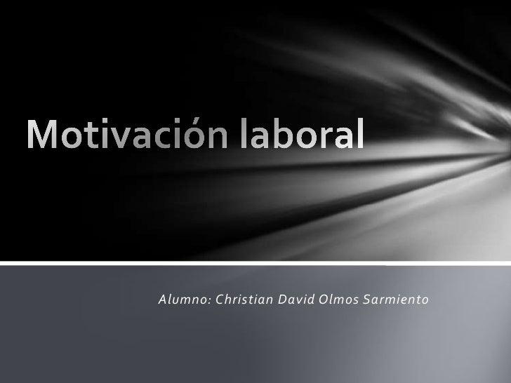 Alumno: Christian David Olmos Sarmiento