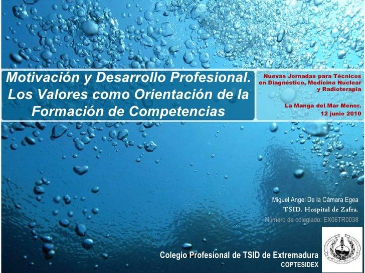 Motivación y Desarrollo Profesional.             Nuevas Jornadas para Técnicos                                            ...