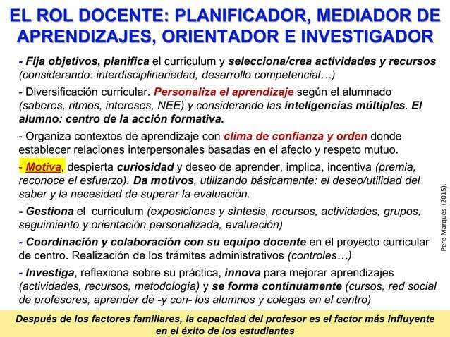 DIDÁCTICA orden, actividades metodologías, tutoría. diversidad LA ACCIÓN DOCENTE MATERIALES de apoyo a los CONTENIDOS INST...