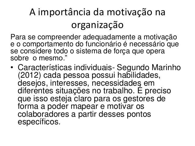 Importância Da Motivação Na Organização