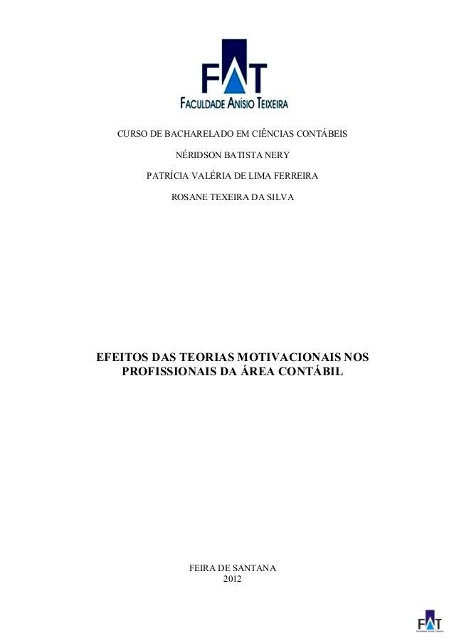 1 CURSO DE BACHARELADO EM CIÊNCIAS CONTÁBEIS NÉRIDSON BATISTA NERY PATRÍCIA VALÉRIA DE LIMA FERREIRA ROSANE TEXEIRA DA SIL...