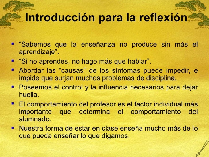 """Introducción para la reflexión <ul><li>"""" Sabemos que la enseñanza no produce sin más el aprendizaje"""". </li></ul><ul><li>"""" ..."""