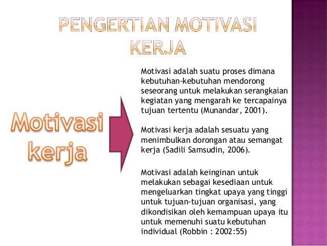 Motivasi Kerja Ppt