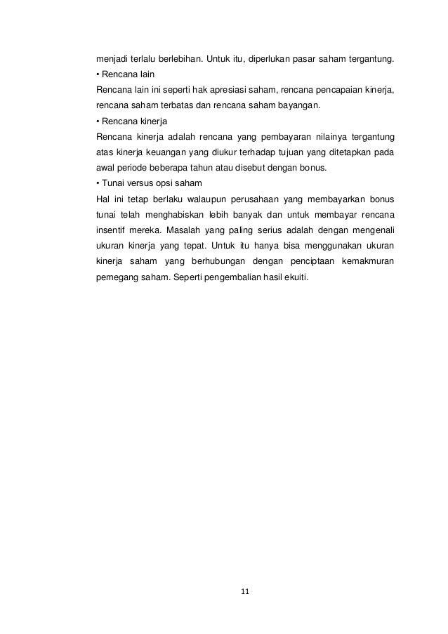 Opsi saham perjanjian kerja eksekutif