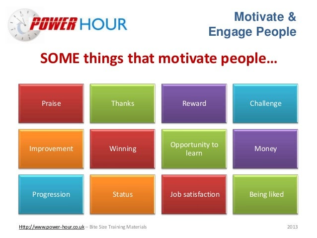 Seven Steps to Motivating People at Work