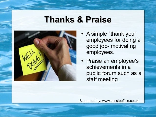 the power of praise employee motivation