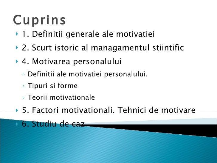 Motivatia si Motivarea Personalului Slide 2