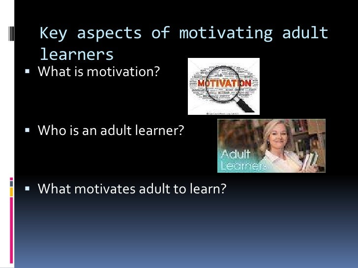 Motivating Factors for Adult Learners in Higher Education