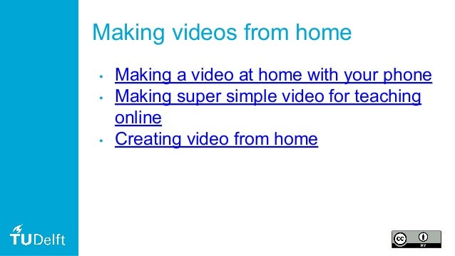 Making videos from home • Making a video at home with your phone • Making super simple video for teaching online • Creatin...