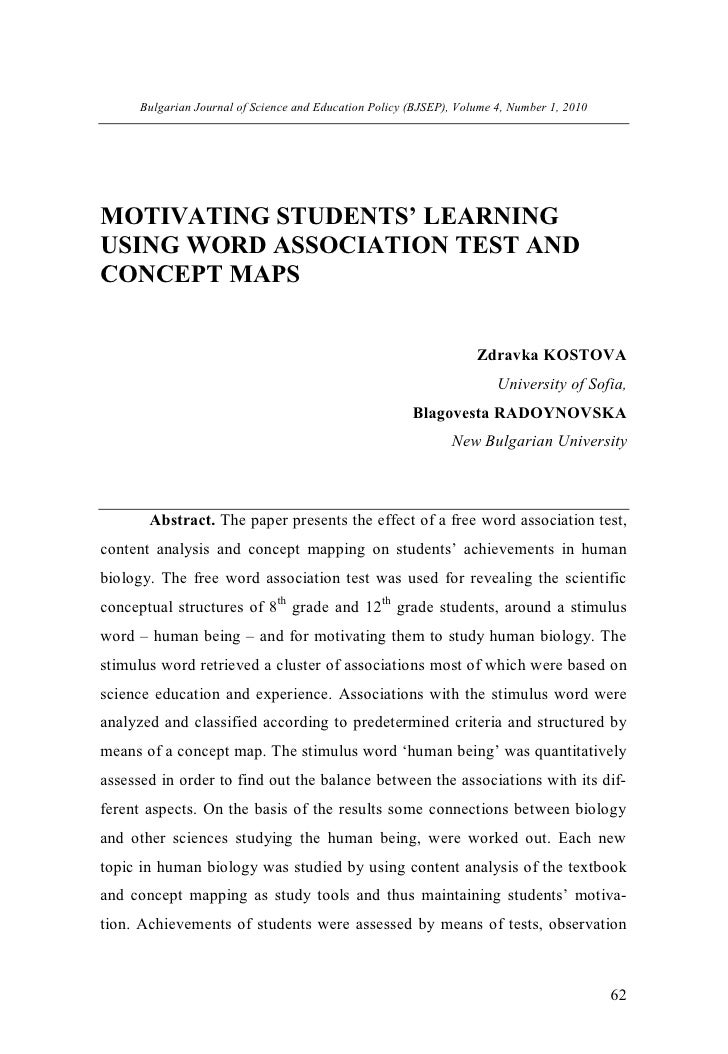 Bulgarian Journal of Science and Education Policy (BJSEP), Volume 4, Number 1, 2010MOTIVATING STUDENTS' LEARNINGUSING WORD...