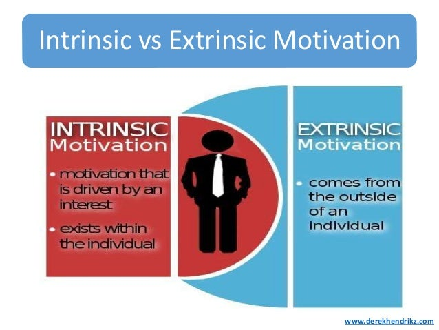 Extrinsic Vs Intrinsic Motivation Motivating your...