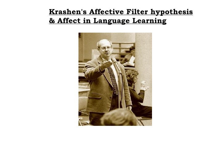 Krashen's Affective Filter hypothesis   & Affect in Language Learning