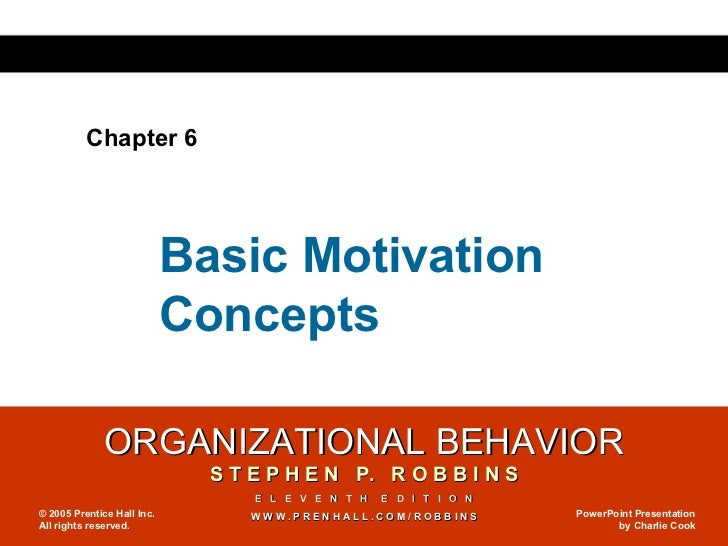 Chapter 6 Basic Motivation Concepts