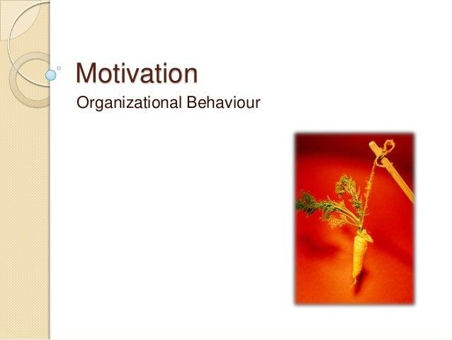 Motivation Organizational Behaviour