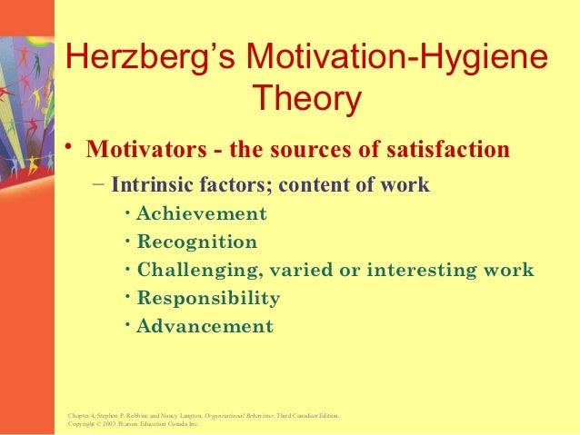 The five factors of satisfaction in stephen p robbins