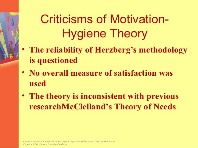 criticism of theory herzberg Application of frederick herzberg's two-factor theory in assessing and understanding employee motivation at work: a  despite such criticism,.