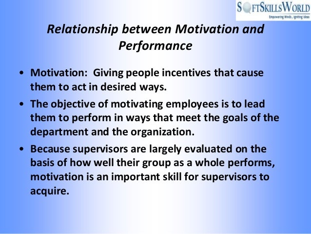 "the relationship between motivation and employees It has also been demonstrated that ensuring employee engagement is a key  "" the relationship between engagement and motivation is a two way street."