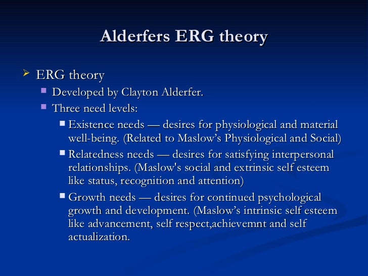 What are the similarities and differences between the ERG Theory and Maslow's Hierarchy?