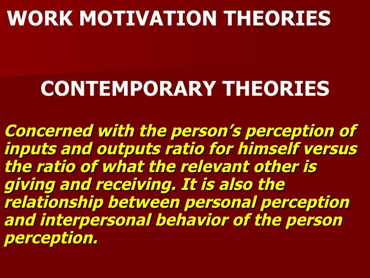 relationship between motivation and behavior Relationship between  previous research has investigated the relationship between motivation and  intrinsic motivation is when the reason for a behavior.