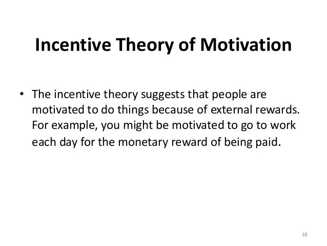 incentive theory of motivation Incentive theory | behavior | mcat | khan academy khanacademymedicine motivation theories chapter 5 - duration: incentive theory - duration.