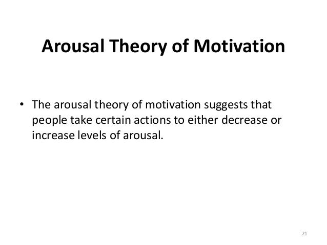 motivation arousal Motivation and emotion share several characteristics and a seemingly cause-and-effect relationship.