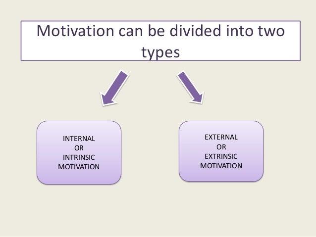 Internal MotivationInternal motivation refers to motivation thatis driven by an interest or enjoyment in thetask itself, a...