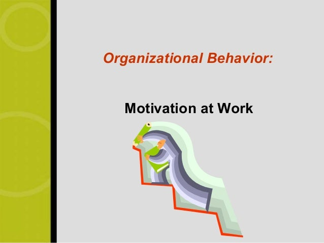 Organizational Behavior:   Motivation at Work