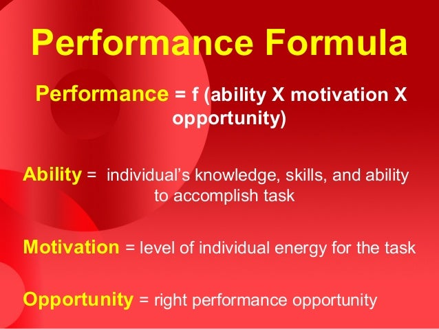 performance motivation