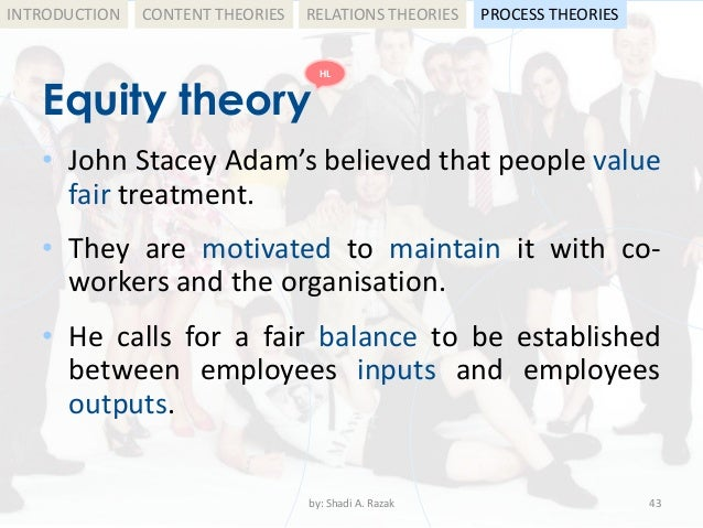 adam s equity theory Equity theory definitionfirst developed in the early 1960s by behavioural psychologist john s adams, equity theory is concerned with.