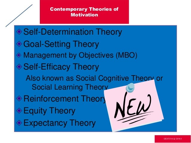contemporary views and theories on motivation Herzberg's two-factor theory of motivation applied to the motivational techniques within financial institutions abstract throughout time, many have attempted to develop detailed theories and studies of motivation, satisfaction.